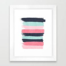 Cecily - abstract paint brush strokes paintbrush brushstrokes boho chic trendy modern minimal  Framed Art Print