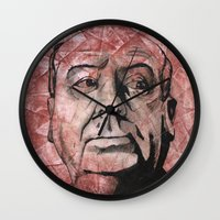 hitchcock Wall Clocks featuring Hitchcock by Colunga-Art