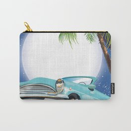 Hollywood Hills California travel poster, Carry-All Pouch