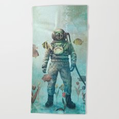 Deep Sea Garden  Beach Towel