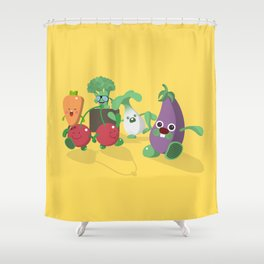 EAT VEGGIES Shower Curtain