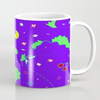 pac man Mugs featuring Pac-Man by Amanda Trader