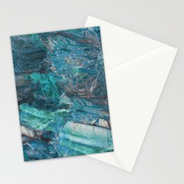 Siena turchese - blue marble Stationery Cards