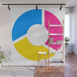 Pansexal Pride Flag Circle Wall Mural