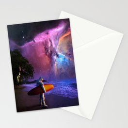 Space Surfer Stationery Cards