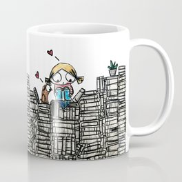 """Book Lover"" Coffee Mug"