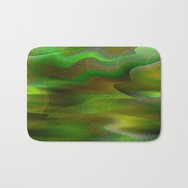 Waves of Abstraction (olive-apple-avocado green) Bath Mat