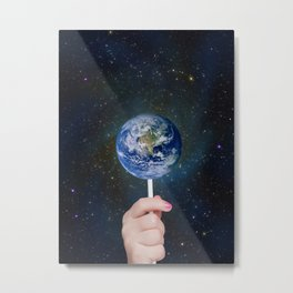 Candy Earth Metal Print