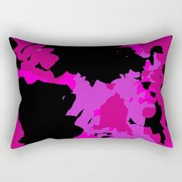 Fuchsia and black abstract Rectangular Pillow
