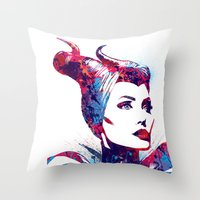 maleficent Throw Pillows featuring Maleficent by lauramaahs
