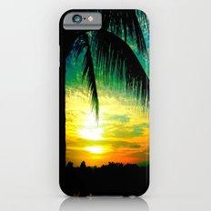 Summer Sunrise - Florida - Palm Trees  iPhone 6 Slim Case