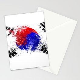 Flag brush Stationery Cards