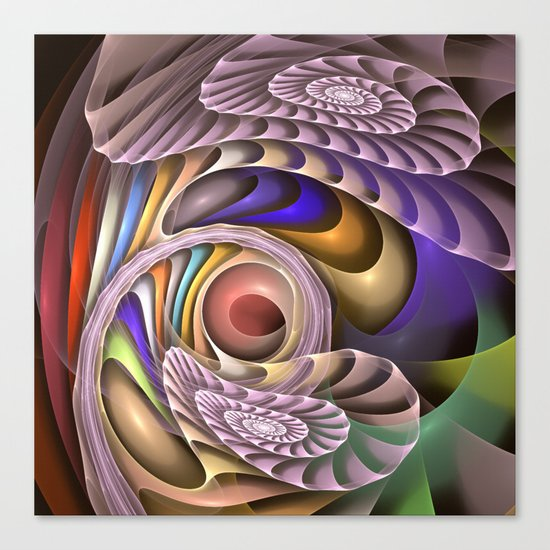 In Motion, colourful fractal abstract Canvas Print