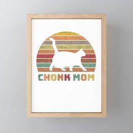 Chonk Mom Chonk Scale Cat Meme Memes Framed Mini Art Print