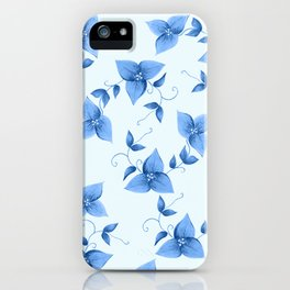 Blue Bougainvillea iPhone Case