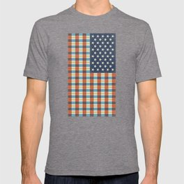 Plaid Flag. T-shirt