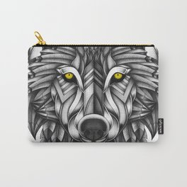Ornate Wolf Carry-All Pouch