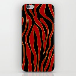 Zebra Red and Gold iPhone Skin