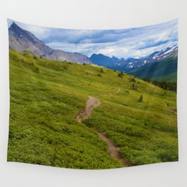 Views Along the Wilcox Pass Trail in Jasper National Park, Canada Wall Tapestry