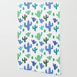 Cactus blue and green #homedecor Wallpaper
