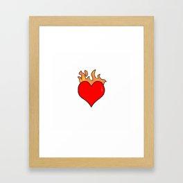 Heart In Fire Framed Art Print