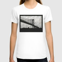 News Feed , Newspaper Bridge Collage T-shirt