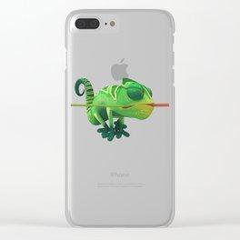 Run Cricket Run - Crazy Chameleon Clear iPhone Case