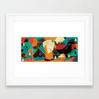 surfer Framed Art Prints featuring Surfer ... by AQ studio