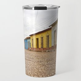 Streets of Trinidad Cuba Cobblestone Stucco Old City Colorful Latin America Caribbean Island Tropica Travel Mug