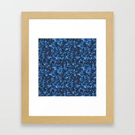 Blue Abstract Camouflage Framed Art Print