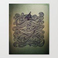 sail Canvas Prints featuring Sail by Meyyen