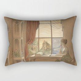 Jane Austen, Mansfield Park - the East Room Rectangular Pillow