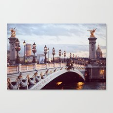 Pont Alexandre III Paris. Canvas Print