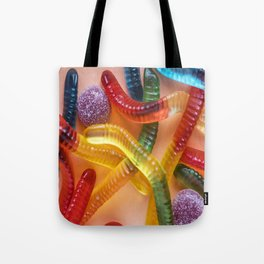 Go and Eat Worms :) Gummy Worms Candy Tote Bag