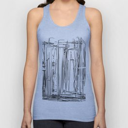 Abstract City Unisex Tank Top
