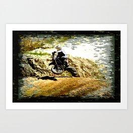 Dirt-bike Racer Art Print