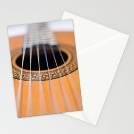 Strings of the guitar above the rose window Stationery Cards