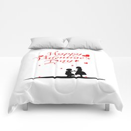 silhouette of children lovers Comforters