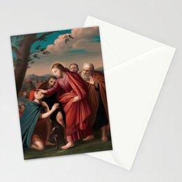 Christ Healing The Blindman - Gerardus Duyckinck I  Stationery Cards