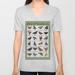 Butterflies of North America Unisex V-Neck