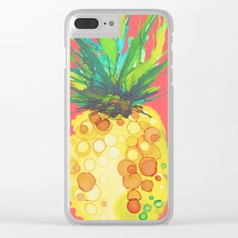 Pineapple Mango Daiquiri Clear iPhone Case