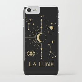 The Moon or La Lune Gold Edition iPhone Case