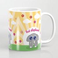lsd Mugs featuring LSD Elephant by flydesign