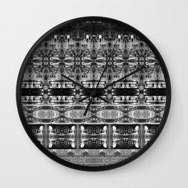 Cafe Stripe Photographic Pattern Art Print #2 Wall Clock