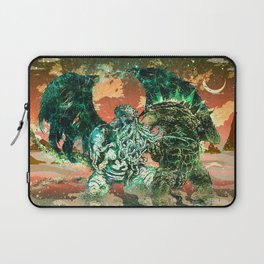 Cthulhu vs Godzilla Laptop Sleeve