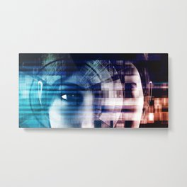 Deep Learning and Machine Artificial Intelligence Concept Metal Print