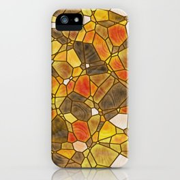 stained glass mosaic iPhone Case