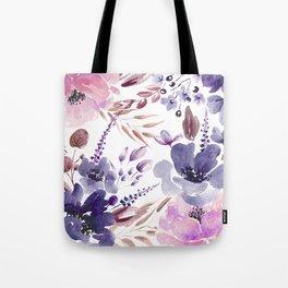 Watercolor giant flowers Tote Bag