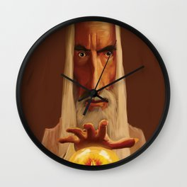 Caricature of Christopher Lee Wall Clock