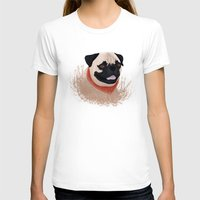 pug T-shirts featuring Pug by Nir P
